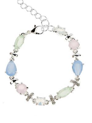 Браслет Bijoux Land. Цвет: серебристый, голубой, розовый