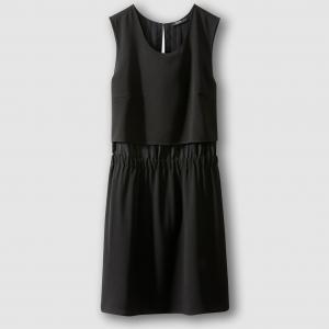Платье без рукавов, RISKA SCHOOL RAG. Цвет: черный