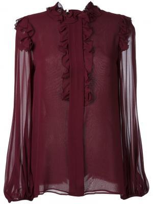Блузка с оборками Giambattista Valli. Цвет: розовый и фиолетовый