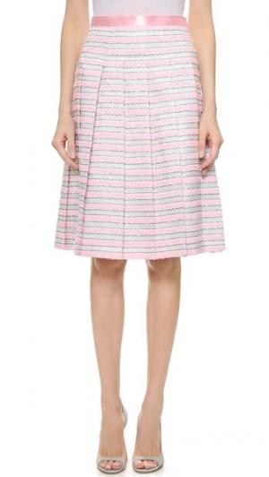Плиссированная юбка Mahlia Kent Leur Logette. Цвет: полоска