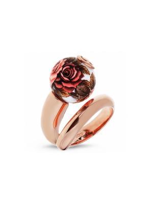 Кольцо Японские цветы. Цвет: золотистый, темно-бордовый, красный, черный