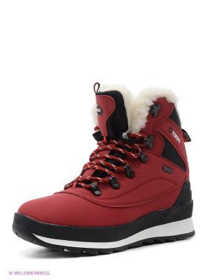 Ботинки Tordis. Цвет: красный
