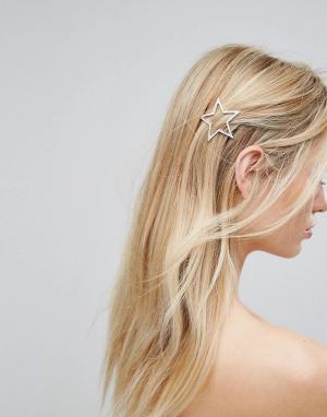 Orelia Заколка для волос со звездами. Цвет: золотой