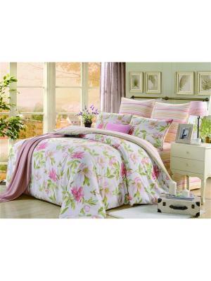 Комплект постельного белья, Каприс, 1,5 спальный KAZANOV.A.. Цвет: розовый