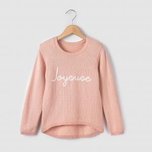 Пуловер с вышивкой joyeuse, на  3-12 лет R essentiel. Цвет: розовый