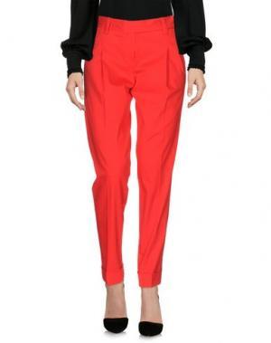 Повседневные брюки METRADAMO. Цвет: красный