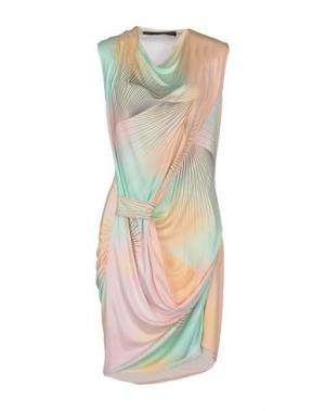 Короткое платье JEAN PIERRE BRAGANZA. Цвет: абрикосовый