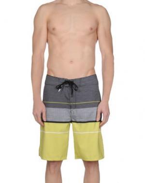 Пляжные брюки и шорты RIPCURL. Цвет: кислотно-зеленый
