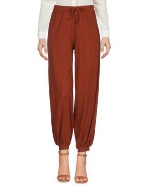 Повседневные брюки FUZZI. Цвет: коричневый
