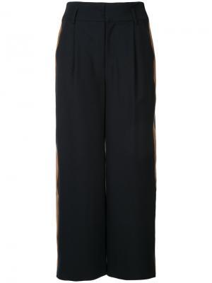 Классические укороченные брюки Loveless. Цвет: синий
