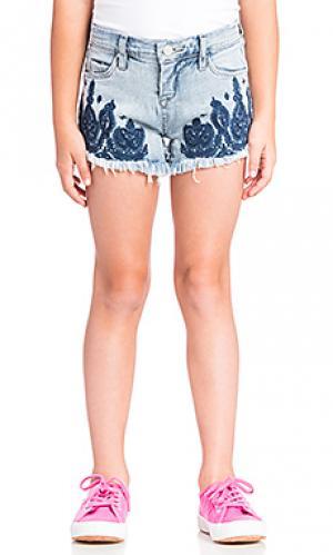 Обрезанные шорты с вышивкой BLANKNYC. Цвет: синий