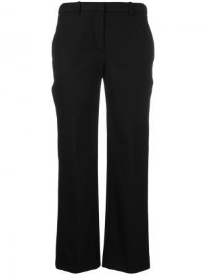 Укороченные брюки клеш Theory. Цвет: чёрный