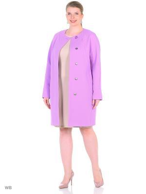 Пальто FORTUNA. Цвет: фиолетовый