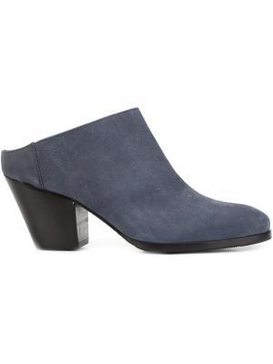 Мюли с закругленным носком Rachel Comey. Цвет: синий