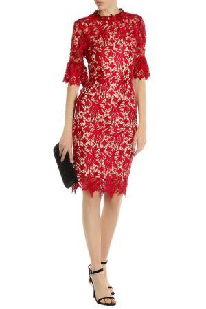 Платье PAPER DOLLS. Цвет: berry, biege