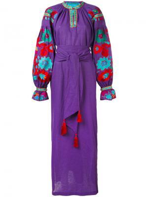 Платье Flower River Yuliya Magdych. Цвет: розовый и фиолетовый