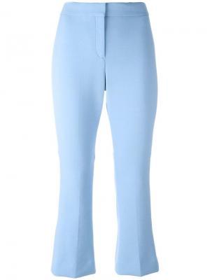 Укороченные расклешенные брюки Theory. Цвет: синий