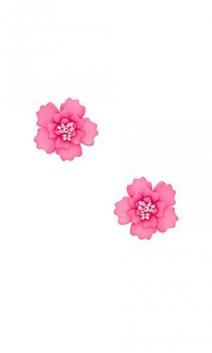 Серьги the gardenia All Things Mochi. Цвет: розовый