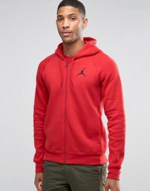 Jordan Nike Jumpman Flight Zip-up Hoodie In Red 823064-687. Цвет: красный
