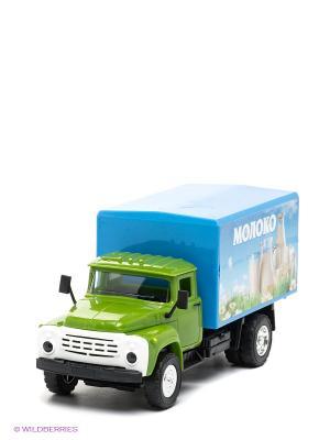 Машина инерционная, зил 130 Технопарк. Цвет: зеленый, голубой