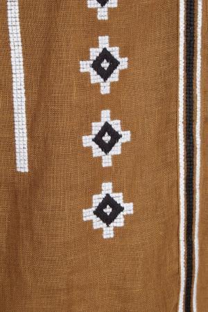 Льняная блузка цвета хаки Croatia Vita Kin. Цвет: хаки