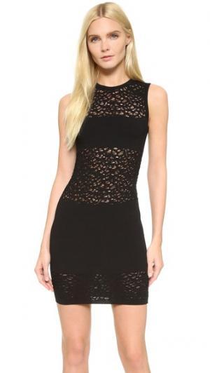 Трикотажное платье без рукавов Versace. Цвет: голубой