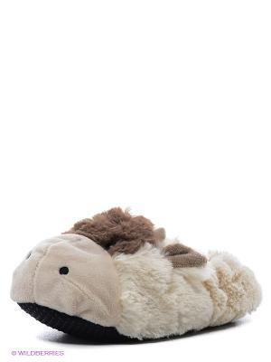 Тапочки-грелки Cozy Body Коровка Warmies. Цвет: молочный