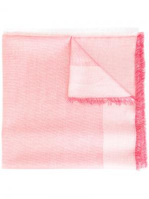 Платок с необработанными краями Dondup. Цвет: розовый и фиолетовый