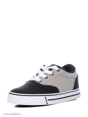Кеды Heelys. Цвет: черный, серый
