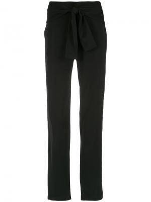 Belted straight trousers Uma | Raquel Davidowicz. Цвет: чёрный
