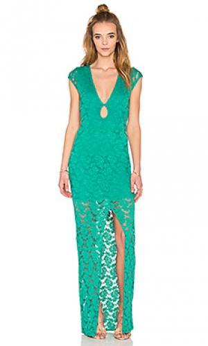 Макси платье teardrop Nightcap. Цвет: зеленый