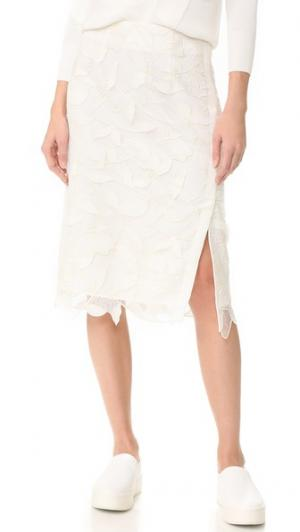 Кружевная юбка Grey Jason Wu. Цвет: белая звезда/кремовый