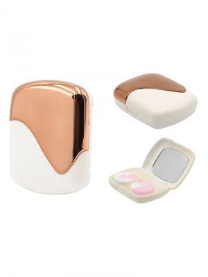 Набор для контактных линз K1601-C0913 Germes. Цвет: коричневый, белый