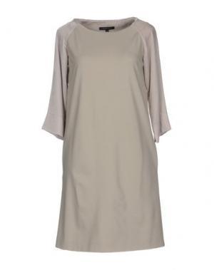 Короткое платье WALTER VOULAZ. Цвет: светло-серый