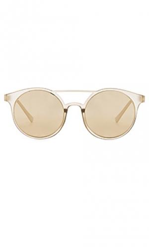Солнцезащитные очки demo mode Le Specs. Цвет: металлический золотой