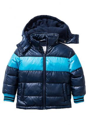Стеганая куртка. Цвет: синий