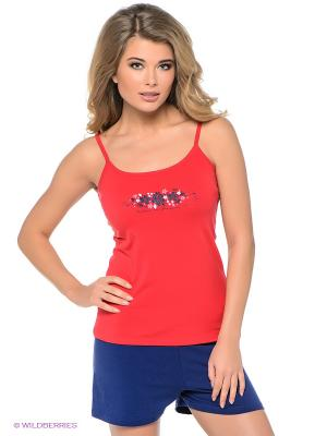 Комплект одежды Vienetta Secret. Цвет: красный, синий