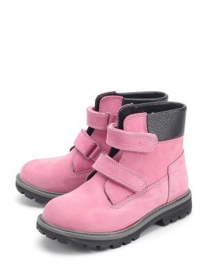 Ботинки Castler. Цвет: розовый