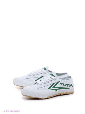 Кроссовки Feiyue. Цвет: зеленый, белый