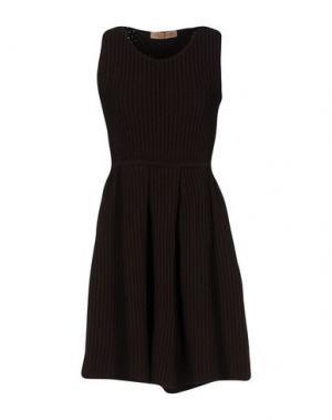 Короткое платье VICEDOMINI. Цвет: какао