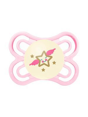 Пустышка силиконоваяMAM Perfect Night  1 шт. 0-6 месяцев MAM. Цвет: розовый