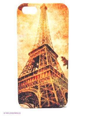 Чехол для IPhone 5 Эйфелева башня осенью Mitya Veselkov. Цвет: коричневый, желтый