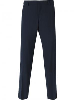 Классические брюки Ami Alexandre Mattiussi. Цвет: синий
