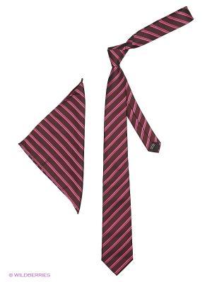 Галстук Hans Grubber. Цвет: темно-красный, бледно-розовый, темно-коричневый