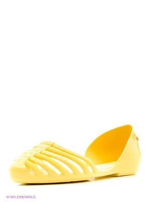 Балетки ZAXY. Цвет: светло-желтый