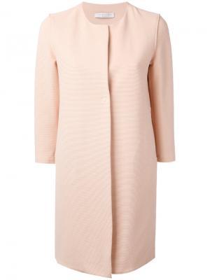 Пальто без воротника с рукавами три четверти Harris Wharf London. Цвет: розовый и фиолетовый