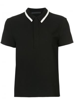 Contrast stripe polo shirt Jenni Kayne. Цвет: чёрный