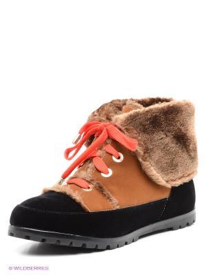 Ботинки Centro. Цвет: коричневый, черный