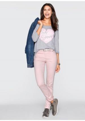 Кофточка. Цвет: светло-серый меланжевый/нежно-розовый, цвет белой шерсти/светло-синий