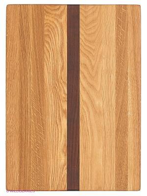 Доска разделочная Три дерева CUBO. Цвет: светло-коричневый, темно-бежевый